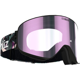 Bliz Flow Goggles, matt black/brown-ice pink multi